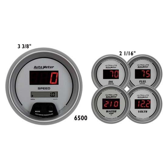 Auto Meter 6500 Ultra-Lite Digital Digital 5 Piece Gauge Set
