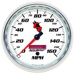 Auto Meter 7289 C2 Air-Core Electric Speedometer Gauge, 5 Inch