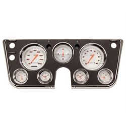 Classic Instruments CT67VSW Velocity Series White Gauge Set, 1967-72 Chevy