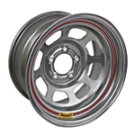 Bassett 57RN4S 15X7 Dot D-Hole 5 on 100mm 4 In Backspace Silver Wheel