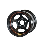 Bassett D58AJ4 15X8 Dot Inertia 5 on 5.5 4 Inch Backspace Black Wheel