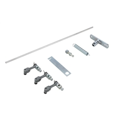 Edelbrock 1034 94 Carb Throttle Linkage Rod Kit, Triple Carb, Standard