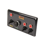 Longacre 44891 Carbon Fiber Start Panel w/ Accessory Switches
