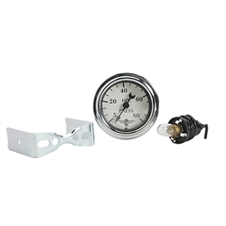 Stewart Warner 82475 Wings Mechanical Oil Pressure Gauge, White