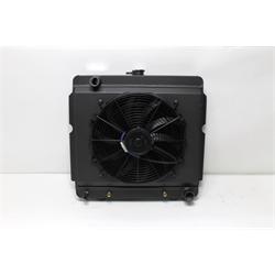Garage Sale - AFCO Black Direct Fit 1960-78 Mopar A, B, E-Body Rad, 22X22 Inch, Single Fan
