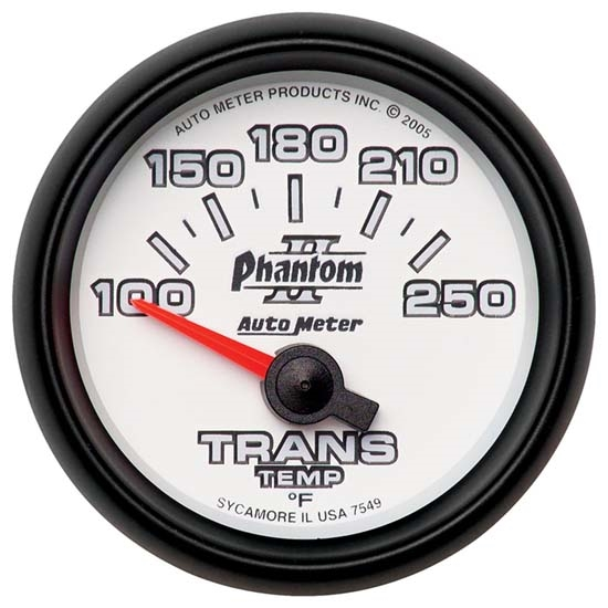 Auto Meter 7549 Phantom II Air-Core Transmission Temperature Gauge