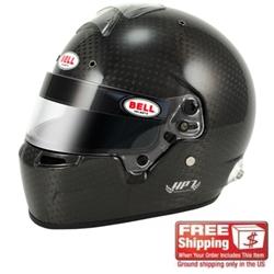 Bell Helmet HP7 Advanced Series Carbon Fiber Racing Helmet, No Duckbill