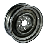 O/E Style Hot Rod Steel 15 Inch Wheel, Raw Finish, 15 x 5, 5 on 4-3/4