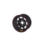 Bassett 47ST4B 14X7 D-Hole 4on4.5 4 Inch Backspace Black Beaded Wheel
