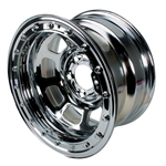Bassett 58DF2WCL 15X8 D-Hole 5on4.5 2 BS Wissota Chrome Beadlock Wheel