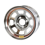 Bassett 58DP4C 15X8 D-Hole 4 on 4.25 4 Inch Backspace Chrome Wheel