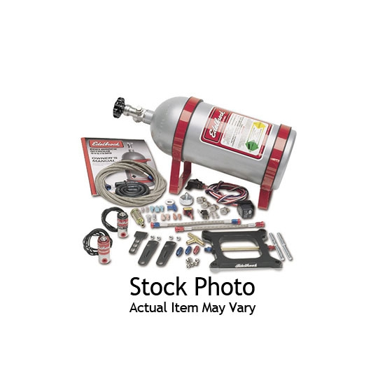 Edelbrock 70031 Performer Nitrous Oxide System, 100 Hp, Polished, Kit