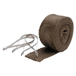 DEi 010123 Exhaust Pipe Wrap and Locking Ties Kit, 2 In x 25 Ft, Titan