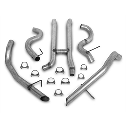 Hooker 16864HKR Cat-Back Exhaust System, Aluminized Pipes