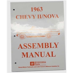 Dave Graham Factory Assembly Instruction Manual for 1963 Chevy II/Nova