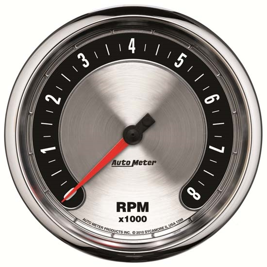Auto Meter 1299 American Muscle Air-Core In-Dash Tachometer Gauge
