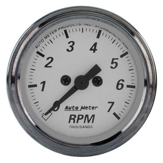 Auto Meter 1994 American Platinum Air-Core In-Dash Tachometer Gauge