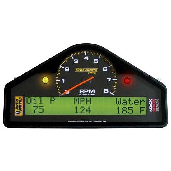 Auto Meter Electronic Speedometers : Auto meter pro comp analog digital lcd dash gauge