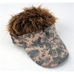 FlairHair Visor, Camo w/ Brown Hair