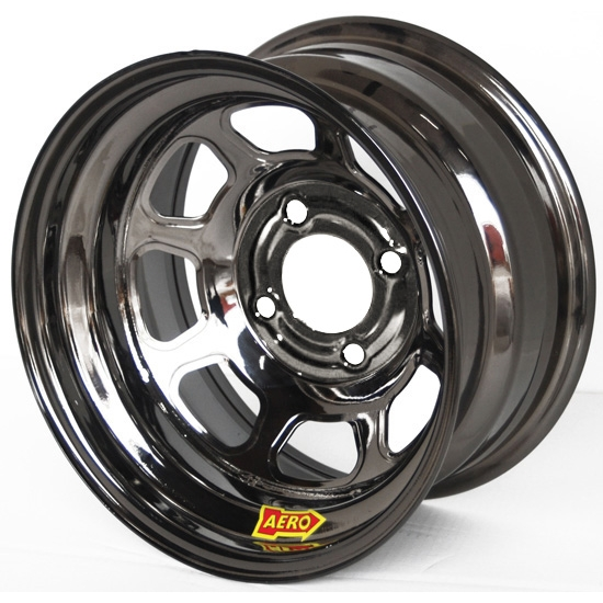 Aero 30-984010BLK 30 Series 13x8 Inch Wheel, 4 on 4 BP, 1 Inch BS