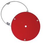 Right Front 15 Inch Wheel Mud Guard, IMCA Approved, Red