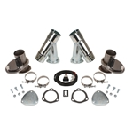Dougs Headers DEC250AK Steel Electric Exhaust Cut-Out Kit, 2.5 Inch