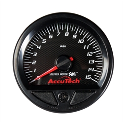 Longacre 46535 Stepper Motor Racing Gauge, Fuel Pressure 0-15 PSI