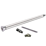 1923 T-Bucket Deluxe Steering Column Kit, Ford Mount, Polished Stainless