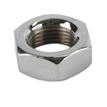 Chrome Steel Jam Nut, 5/8 Inch-18 LH NF Fine Thread