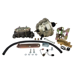 1958-64 Chevy Full-size Car Brake Booster Combo, Disc/Drum