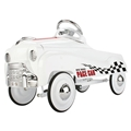 Big Race Pace Pedal Car, White