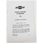 Jim Osborn 1966 Chevy II Nova Accessory Price List