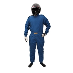 Garage Sale - Speedway Economy One-Piece Suit, One Layer, SFI-1, Blue, Size XL