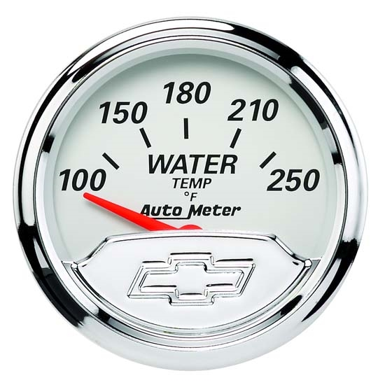 Auto Meter 1337-00408 Chevy Vintage Air-Core Water Temperature Gauge
