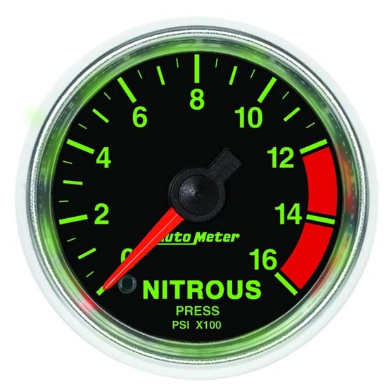 Auto Meter 3874 GS Digital Stepper Motor Nitrous Pressure Gauge