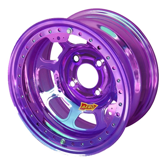 Aero 33-974010PUR 33 Series 13x7 Wheel, Lite, 4 on 4 BP, 1 Inch BS