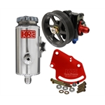 KRC 59020010 Cast Iron SBC Pump Kit Serpentine Head Mount Remote Tank