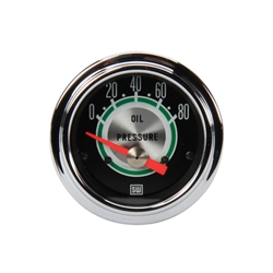 Stewart Warner 306BB Green Line 2-1/16 Inch Oil Pressure Gauge