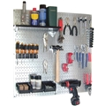 Wall Control 30-WGL-200GV Utility Tool Organizer Kit, Metal Pegboard