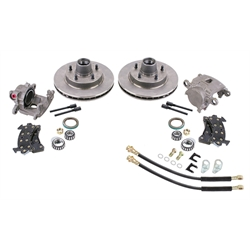 "GM Metric Disc Brake Kit for 910-34921 1955-57 2"" Drop Spindles"