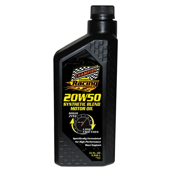 Champion Racing Oil 4111H 20W-50 Synthetic Engine Oil