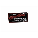 OER Heartbeat Of America Chevrolet License Plate