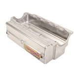 Aluminum Box Oil Pan with RH Kick Out for Small Block Chevy