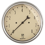 Auto Meter 1899 Antique Beige Air-Core In-Dash Tachometer Gauge