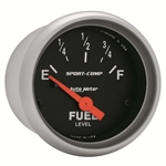 Auto Meter 3314 Sport-Comp Air-Core Electric Fuel Level Gauge, 2-1/16