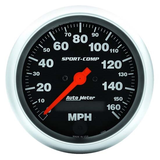 Auto Meter 3988 Sport-Comp Air-Core Speedometer, 160 MPH, 3-3/8 Inch