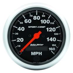 Auto Meter 3988 Sport-Comp Air-Core Speedometer, 160 MPH, 3-3/8 Inch