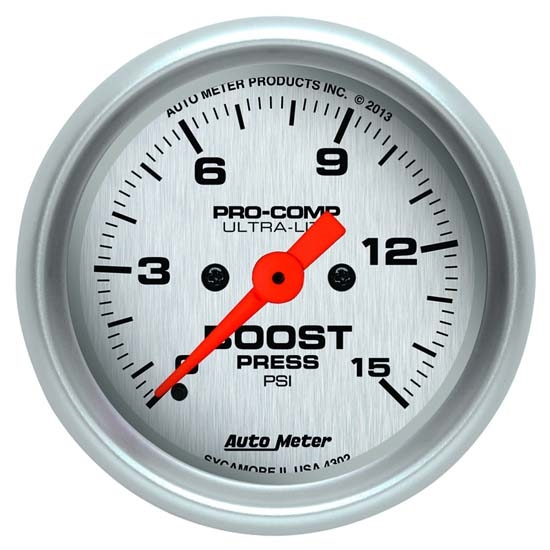 Auto Meter 4350 Ultra-Lite Digital Stepper Motor Boost Gauge, 2-1/16