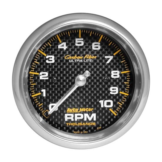Auto Meter 4798 Carbon Fiber Air-Core In-Dash Tachometer Gauge