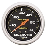 Auto Meter 5403 Pro-Comp Mechanical Blower Pressure Gauge, 2-5/8 Inch